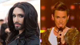 See Conchita Wurst as the unbearded Tom Neuwirth