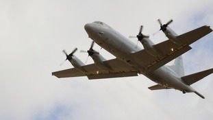 An Australian search aircraft takes off from an airbase in Perth, Western Australia to assist with the international MH370 search effort