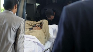 "Mubarak reportedly suffered a ""health crisis"" after his sentencing."