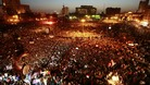 Up to 10,000 people gathered in Cairo&#x27;s Tahrir Square, the scene of last year&#x27;s uprising which led to Mubarak&#x27;s removal from office.