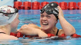 Ellie Simmonds celebrates new world record