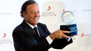 Julio Iglesias was honoured for his best-selling career in a ceremony at London's Dorchester Hotel