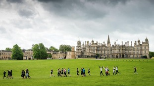 The grounds of the Burghley House country estate was transformed into the course.