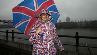 The Union Jack is out in force on London's river banks