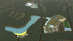 The new Center Parcs developmet in Woburn Forest