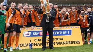 Wolves manager Kenny Jackett was named joint League One Manager of the Year