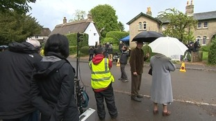 Grantchester  in Cambridgeshire has been turned into a film set.