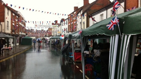 The stalls are set up and ready for the parade