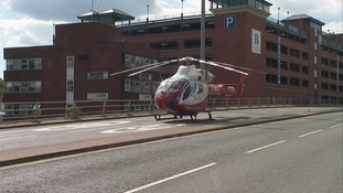 An air ambulance had to land in Luton town centre today.