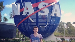 Stephen Sutton at Nasa Space Centre.