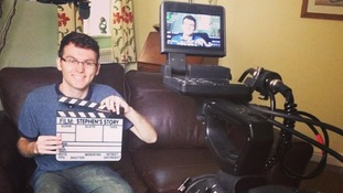 File photo of Stephen Sutton filming Stephen's Story.