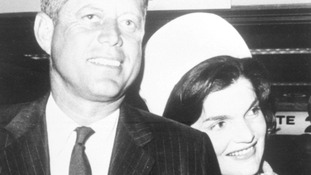 JFK and Jackie Kennedy.