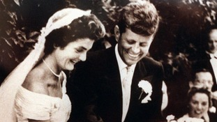Jackie Kennedy's wedding to JFK in 1953.
