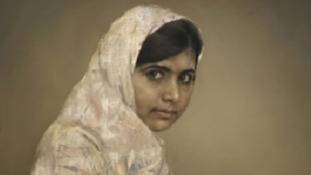 The painting of Malala will be sold next month