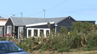 The chalet in Hemsby where Connor Barrett was stabbed