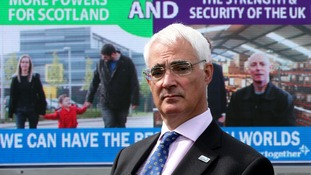 Alistair Darling during the launch of a new 'Better Together' ad campaign in Edinburgh.