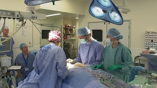 An operation at the Norfolk and Norwich University Hospital