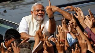 Right-wing Hindu nationalist Narendra Modi
