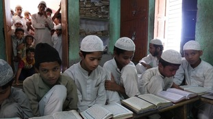 Schoolchildren in Tawali, an area that has seen religous violence in recent past.