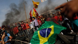 Protests flare in Brazil ahead of the World Cup.