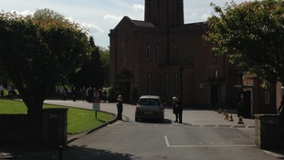 Mourners arrive for Ann Maguire's funeral