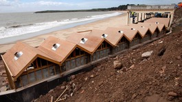 Bad weather delays Barry beach hut project