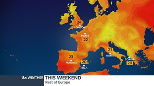 Parts of the UK are set to be warmer than Madrid, Ibiza, Rome and Corfu.