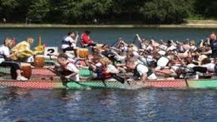 Competitors in last year's Drafon Boat Challenge