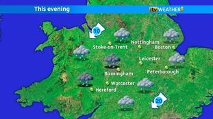 Steady rain will continue with a wet evening for the Diamond Jubilee Beacons