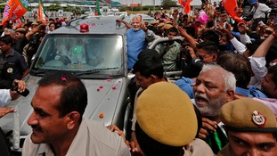 The Hindu nationalist leader took to power with a landslide majority.