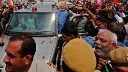 India's Modi on parade after huge election win