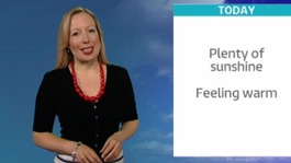 Phillipa Drew has today's weather forecast
