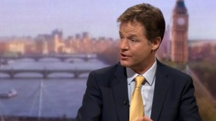 Nick Clegg speaking on BBC One's The Andrew Marr Show.