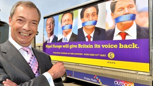 Ukip launched a provocative poster campaign ahead of the vote.