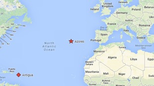 The yacht departed from Antigua and lost contact on diversion to the Azores.