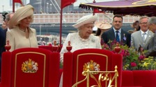 The Queen aboard the Spirit of Chartwell