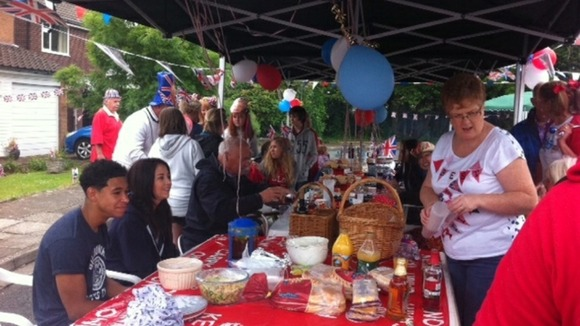 A street party in Ely for the Diamond Jubilee