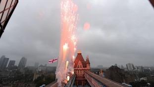 Fireworks on Tower Bridge