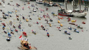 The Diamond Jubilee flotilla is 1,000 boats strong