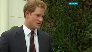 Prince Harry was visiting the site of the battle on its 70th anniversary.