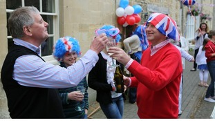 Jubilee party in Northleach in Gloucester