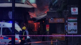 Huge fire breaks out at Camden Town market