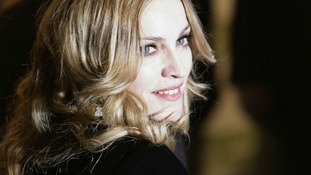 """U.S. pop star Madonna attends the premiere of the film """"Arthur and the Invisibles"""" in Leicester Square"""