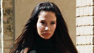 Singer Tulisa Contostavlos,25, arrives at Chelmsford Magistrates' Court today.