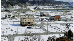 The tsunami-devastated Otsuchi town in Iwate prefecture, March 2012