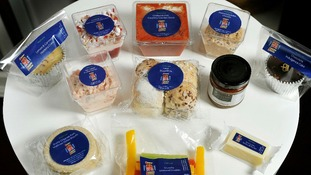 The contents of the Diamond Jubilee picnic hamper