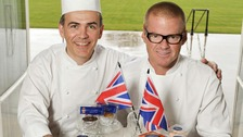 Celebrity Chef Heston Blumenthal (right) with Royal Chef Mark Flanagan 