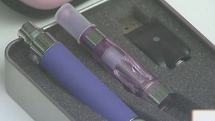 E-cigarettes in a case on show