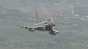 Two RAF Typhoons were sent to investigate a Russian aircraft in international airspace.