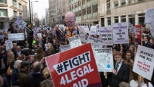 Legal professionals protest at a mass demonstration last month.